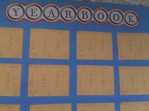yearbook wall-charts for organizing