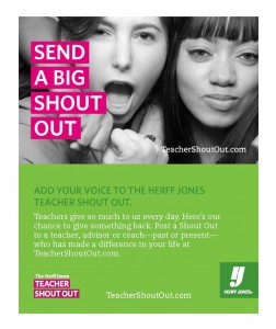 Featured Event: Teacher Shout Out