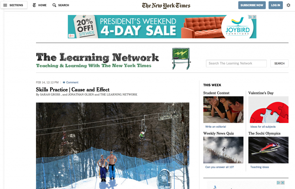 The Learning Network at The New York Times