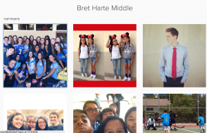 Bret Harte Middle School Instagram Account